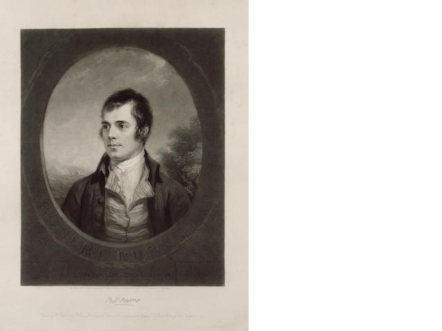 BURNS, ROBERT (1759-1796, poet) PORTRAIT BY WILLIAM WALKER (1791-1867) AND SAMUEL COUSINS (1801-1887