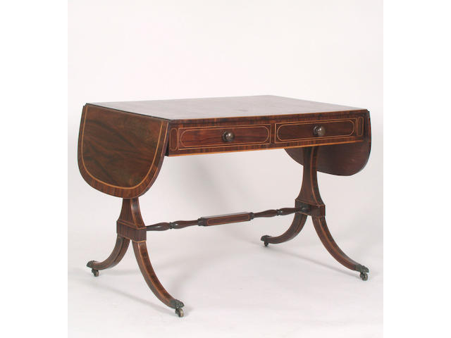 A 19th Century rosewood sofa table