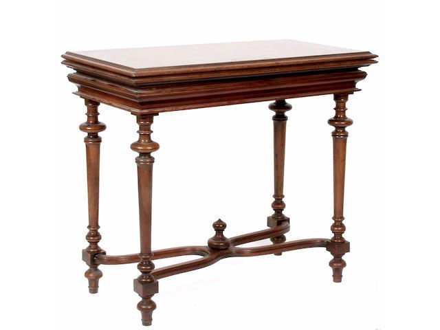 A 19th Century mahogany card table