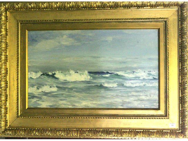 John Campbell Mitchell (20thc) Summer seas 45 x 75cm