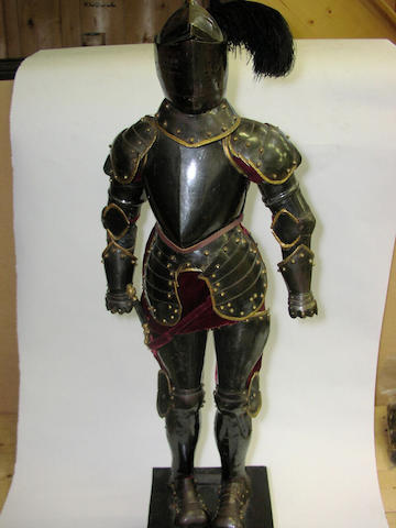 A model armour in the late 16th Century style