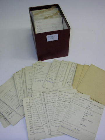 Island Farm Prisoner Indexed Card File