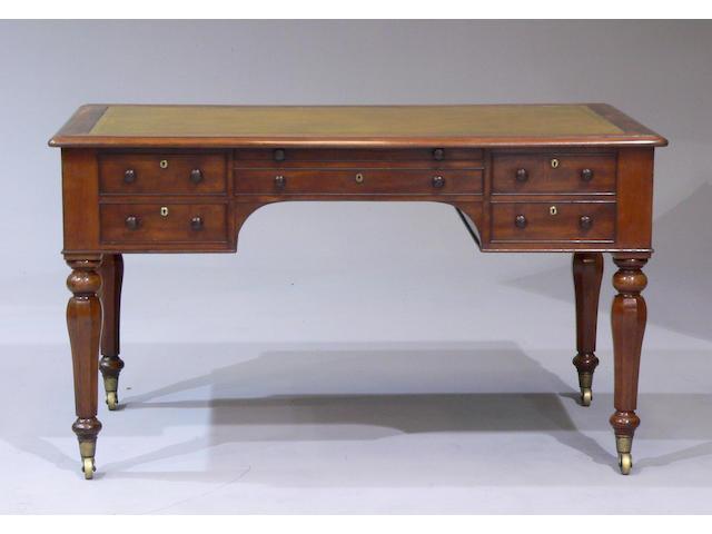 A William IV mahogany writing table