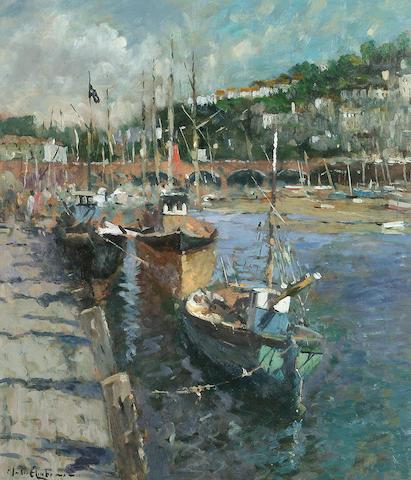 John Ambrose (British, b.1931) 'Looe, Cornwall' 52 x 46cm (20 1/2 x 18in)