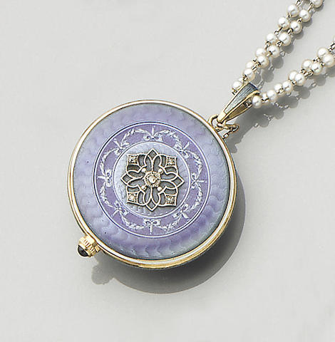 An early 20th century enamel fob watch,