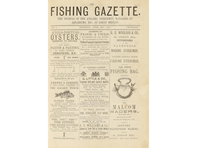 FISHING GAZETTE The Fishing Gazette, vol. 1-143 (lacking vol. 110, 112, 122-123, 125, and 132-134)