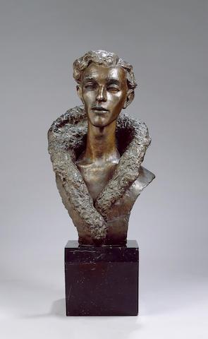 TENNANT, STEPHEN (1906-1987, artist, lover of Siegfried Sassoon) PORTRAIT BY MAURICE LAMBERT R.A. (1901-1964),