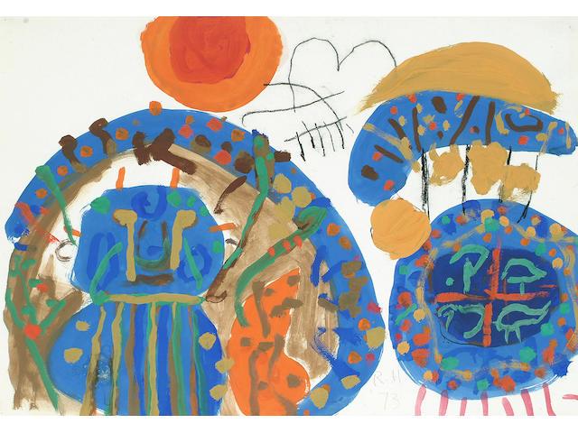 Roger Hilton (British, 1911-1975) Untitled 39.5 x 56cm (15 1/2 x 22in)