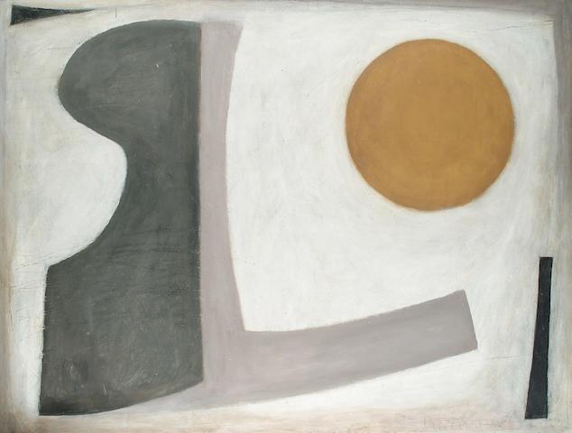 Roy Turner Durrant (British, 1925-1998) 'Inscape (Orison)' 117 x 153cm (46 x 60in)