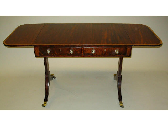 A George III mahogany sofa table