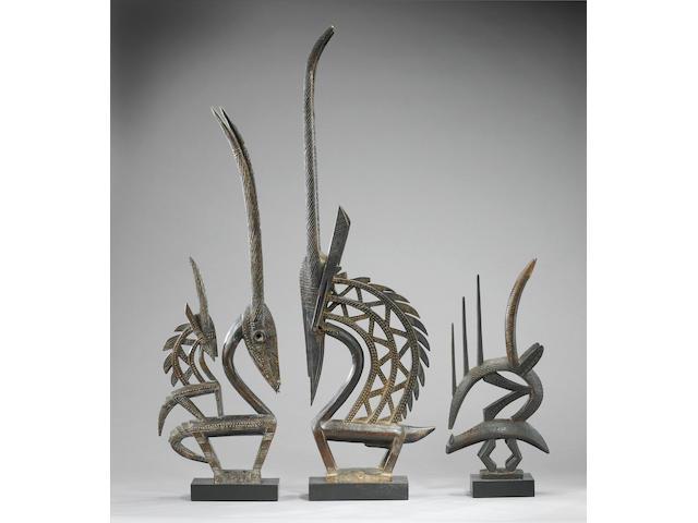 A Bambara antelope dance headdress Chi'wara 94cm