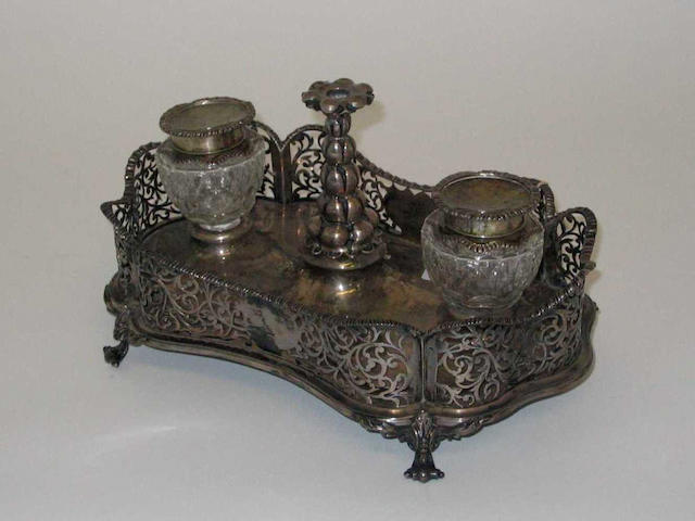 A Victorian inkstand By Charles Fox, 1840, and Charles and George Fox, 1849-50,