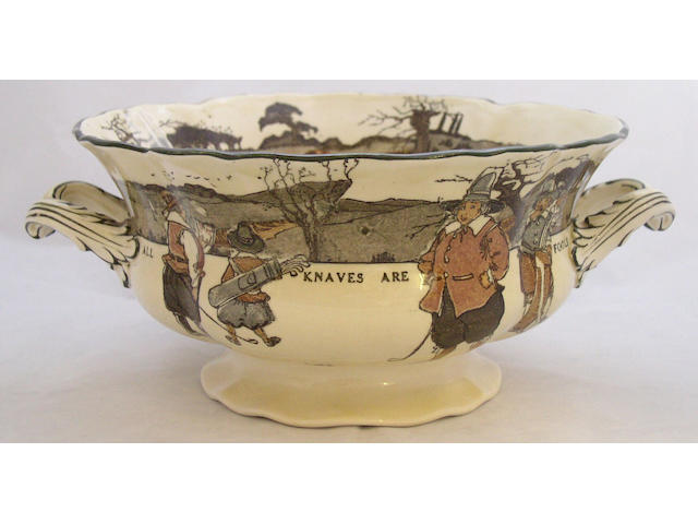 A good Royal Doulton Golfing Series tureen C. 1915,
