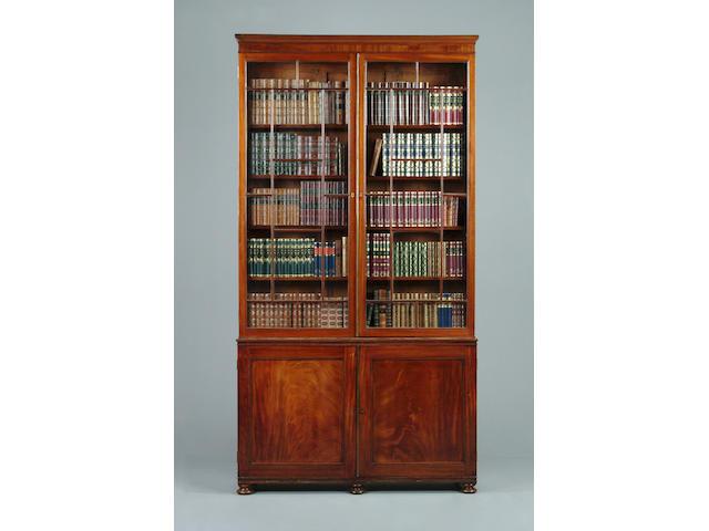 An early 19th century mahogany bookcase