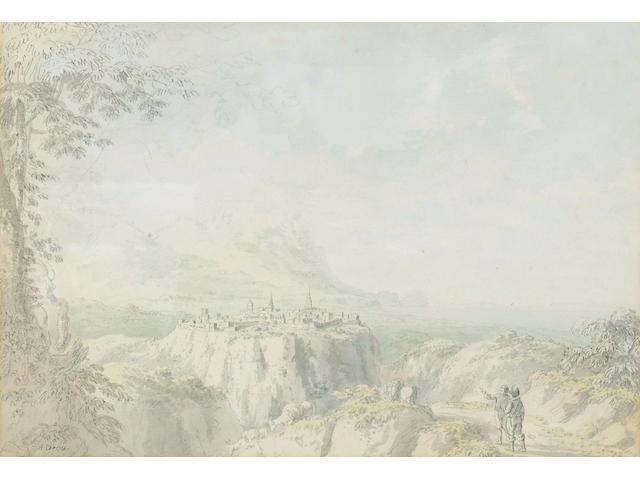 Anthony Devis (1729-1817) 'Italianate landscape' 30 x 43cm