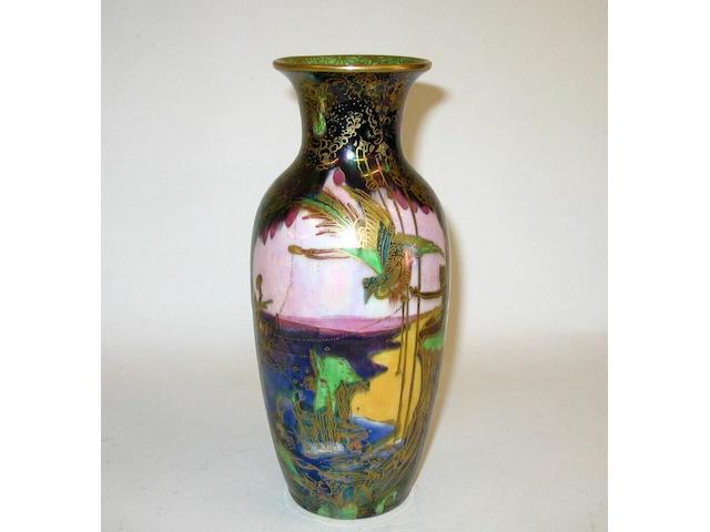 A Wedgwood Fairyland vase designed by Daisy Makeig Jones