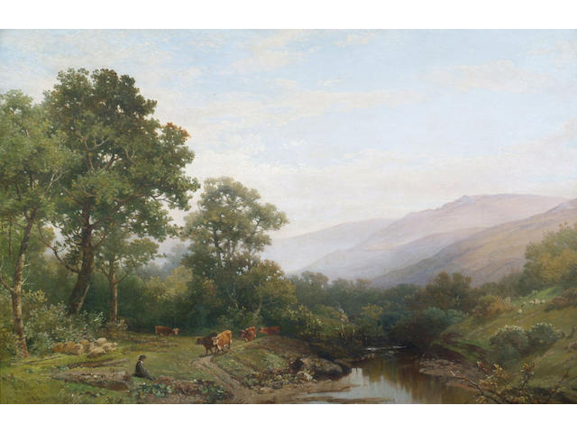William Williams of Plymouth (1808-1895) 'A view towards Dartmoor' 60 x 90cm (24 x 36in)