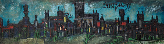 Francis Newton Souza (India, 1924-2002) Night Landscape