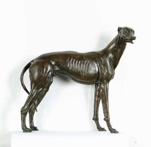James Osborne (British, 1940-1992) Greyhound, 27.7 cm (10 7/8 in) high