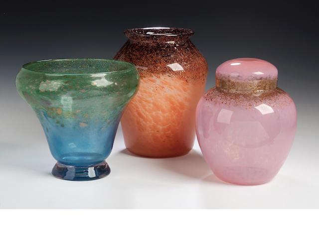A Monart Vase, shape EA,