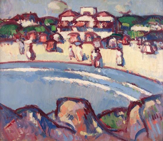 "John Duncan Fergusson RBA (1874-1961) ""La Plage"" 57 x 66cm (22 1/2 x 26 1/4ins)"