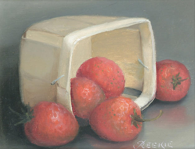 ****Reekie (20th Century) Still life of Strawberries 13 x 15cm (5 x 6in)