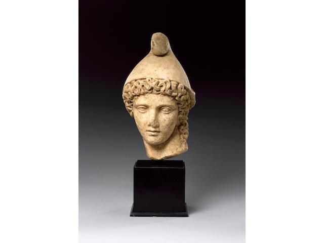 A Roman marble head of Paris