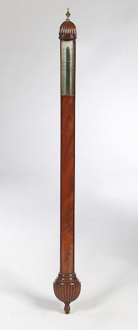 An early 19th Century mahogany Stick Barometer, A. Adie, Edinburgh,