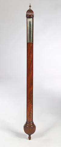 An early 19th Century mahogany Stick Barometer, A. Adie, Edinburgh,