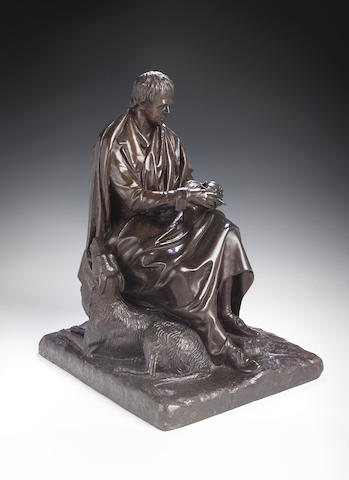 Sir John Steell RSA, 1804-1891, A bronze statue of Sir Walter Scott,