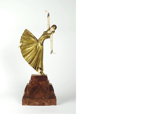 Bronze Chiparus figure