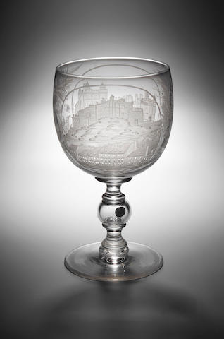 A large engraved presentation Goblet,