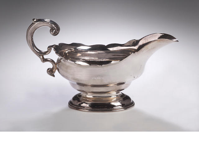 A George II Cream Boat,  by Lothian & Robertson, assay master of Hugh Gordon, Edinburgh 1756,