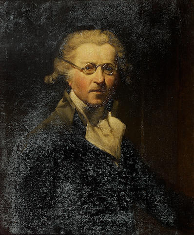 REYNOLDS, Sir JOSHUA (1723-1792, portrait painter, first President of the Royal Academy) PORTRAIT AFTER HIS CELEBRATED SELF-PORTRAIT AGED ABOUT SIXTY-FIVE, ENGLISH SCHOOL, 19TH CENTURY
