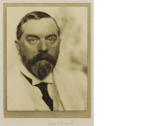 SARGENT, JOHN SINGER (1856-1925, painter, R.A., R.P.)  PORTRAIT BY ALVIN LANGDON COBURN (1882-1966),