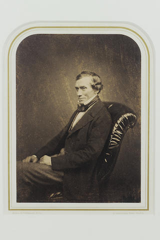 GRAHAM, THOMAS (1805-1869, chemist)  PORTRAIT BY MAULL AND POLYBLANK,<br/>