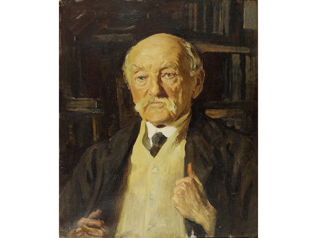 HARDY, THOMAS (1840-1928, poet and novelist, O.M.)  PORTRAIT BY REGINALD GRENVILLE EVES R.A., R.P. (