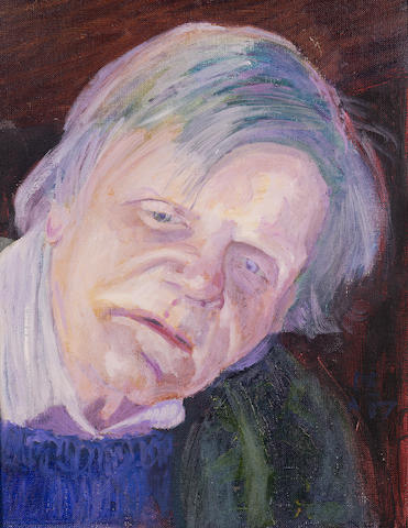 HEATH-STUBBS, JOHN (b. 1918, poet, playwright and critic) PORTRAIT BY PETER EDWARDS (b. 1955),