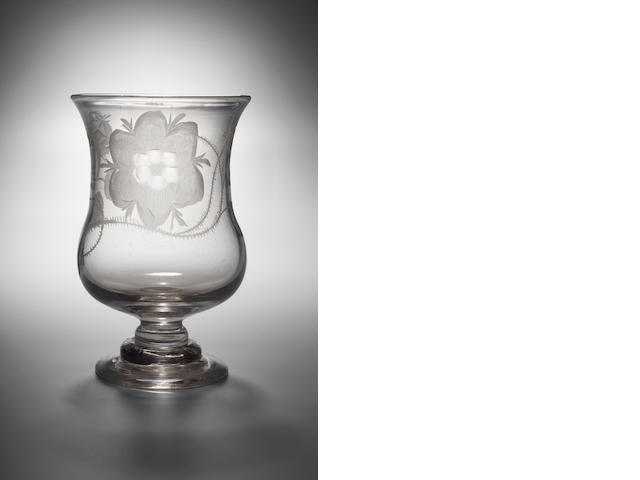 A Jacobite Water Glass, circa 1750,