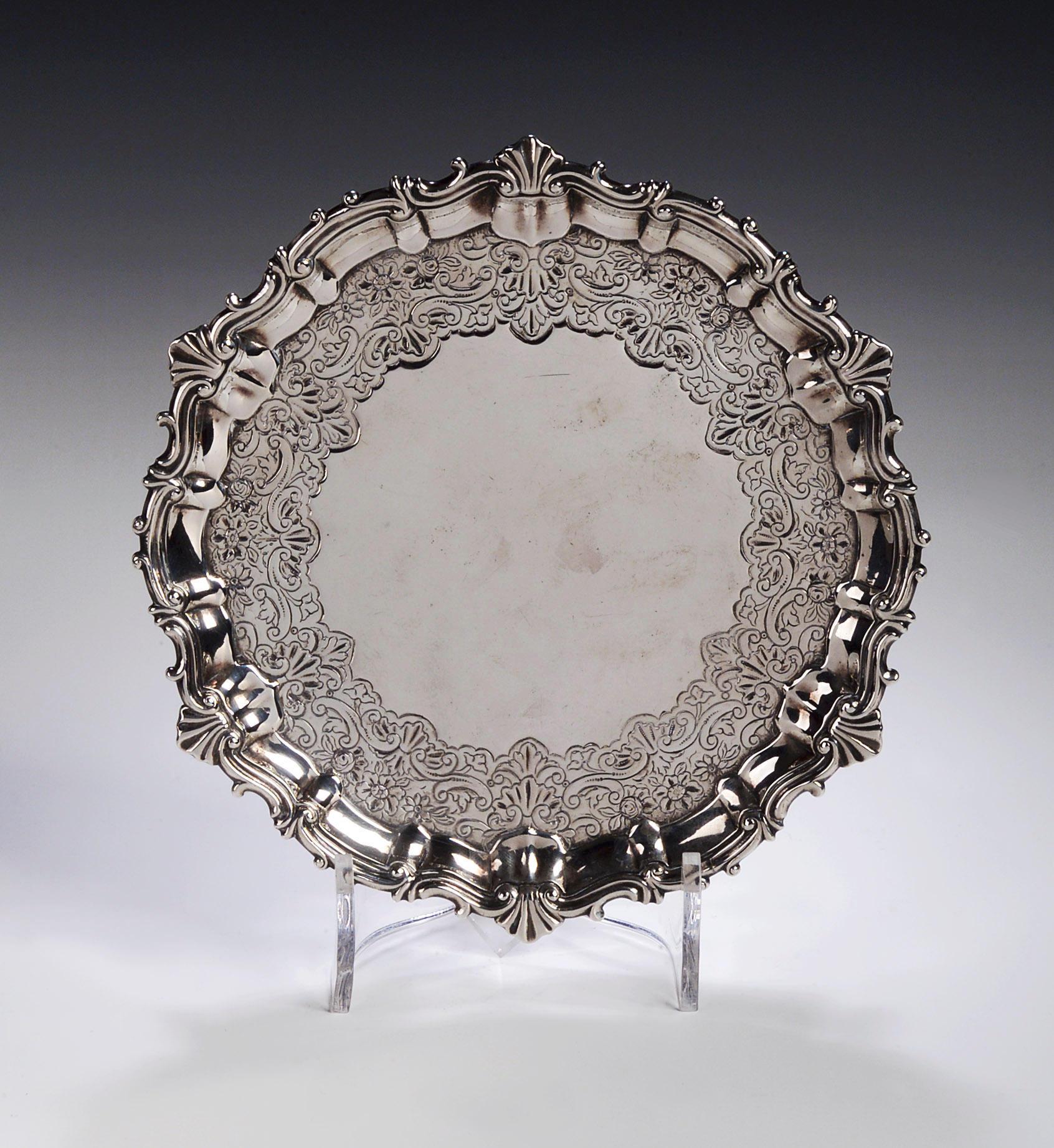 A George II silver Salver,