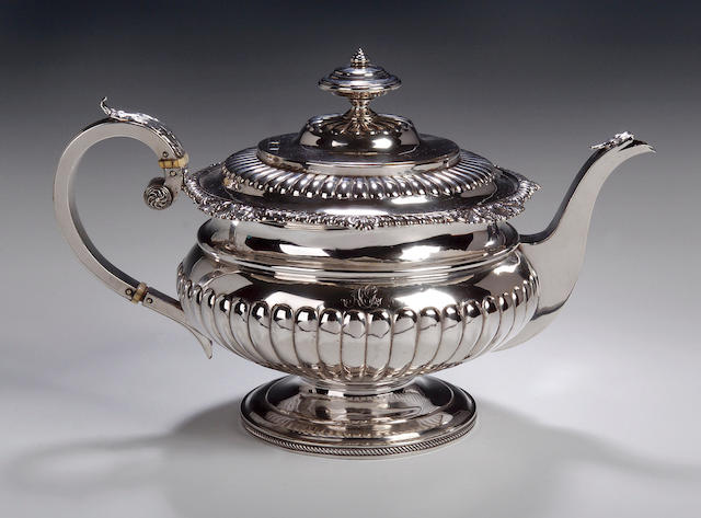 A George III Teapot, by James Mackay, Edinburgh 1817,