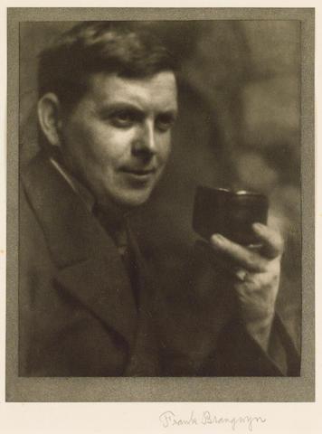 BRANGWYN, Sir FRANK (1867-1956, artist, R.A.)  PORTRAIT BY ALVIN LANGDON COBURN (1882-1966),<br/>