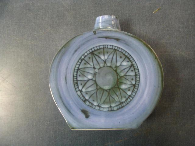 A Troika smooth glazed flask
