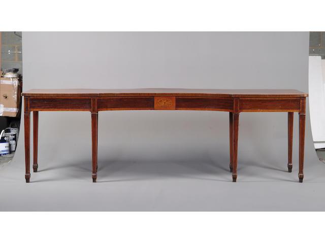 A massive 19th century mahogany serving table
