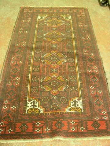 An Afghan rug,