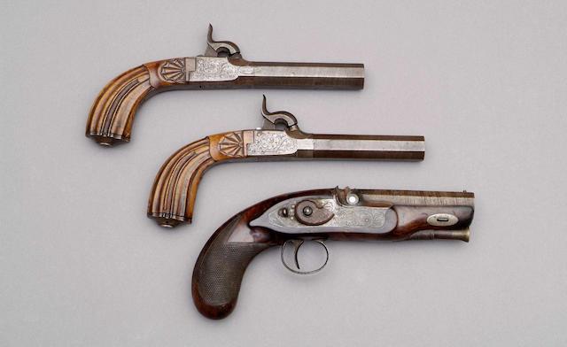 A pair of percussion boxlock pocket pistols