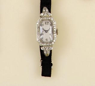 An 18ct white gold diamond set cocktail watch