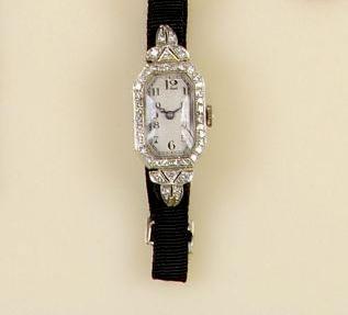 An 18ct white gold diamond set cocktail watch
