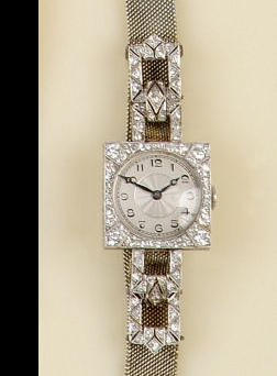 A diamond set cocktail watch