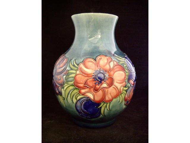 A large Moorcroft 'Anemones' vase